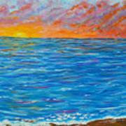 Abstract Art- Flaming Ocean Poster