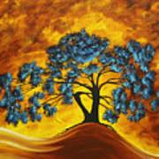 Abstract Art Original Landscape Painting Dreaming In Color By Madartmadart Poster by Megan Duncanson