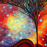 Abstract Art Whimsical Landscape Painting Morning Bliss By Madart Poster