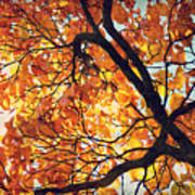 Abstract Autumn Impression Poster