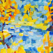 Abstract Autumn Landscape Poster