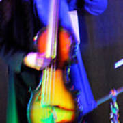 Abstract Bass Player. Poster