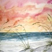 Abstract Beach Painting Poster