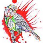 Abstract Bird 002 Poster