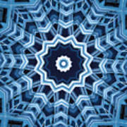 Abstract Blue 16 Poster