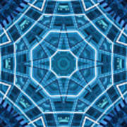 Abstract Blue 18 Poster