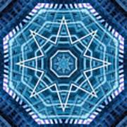 Abstract Blue 20 Poster