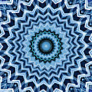 Abstract Blue 25 Poster