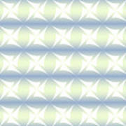 Abstract Blue And White Background Poster
