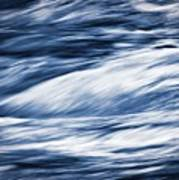 Abstract Blue Background Wild River Poster