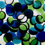 Abstract Blue Green II Poster