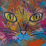 Abstract Cat Meow Poster