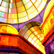 Abstract Cathedral Color Wheel Poster
