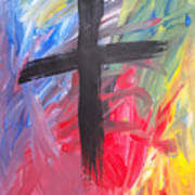 Abstract Cross Poster
