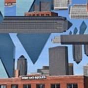 Abstract Dallas Poster