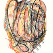 Abstract Drawing Forty-five Poster