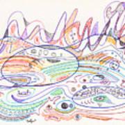 Abstract Drawing Nineteen Poster