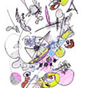 Abstract Drawing Seventy-two Poster