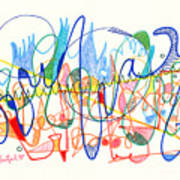 Abstract Drawing Two Poster