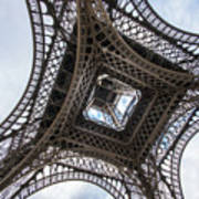 Abstract Eiffel Tower Looking Up 2 Poster