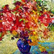Abstract Floral 1 Poster by Marion Rose