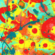 Abstract Floral Fantasy Panel A Poster