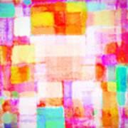 Abstract Geometric Colorful Pattern Poster by Setsiri Silapasuwanchai