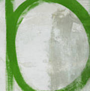 Abstract Green Circle 2- Art By Linda Woods Poster