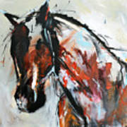 Abstract Horse 12 Poster