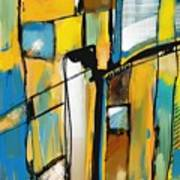 Abstract In Yellow And Blue Poster