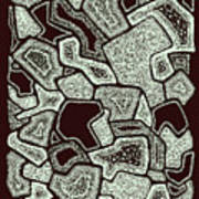 Abstract Landscape - Hand Drawn Pattern Poster