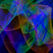 Abstract Light Trails Poster