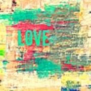 Abstract Love V2 Poster