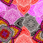 Abstract Mandala Floral Design Poster