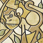 Funky Monkey - Zeeko Abstract Monkey Poster
