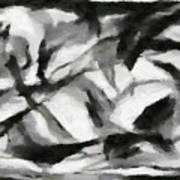 Abstract Monochome 156 Poster