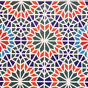 Abstract Moroccon Tiles Colorful Poster