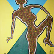 Abstract Nude Ebony In Heels Poster