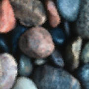 Abstract Of River Rocks 1 Poster