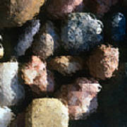 Abstract Of River Rocks 2 Poster