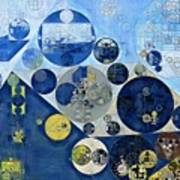 Abstract Painting - Kashmir Blue Poster