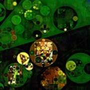 Abstract Painting - Lincoln Green Poster