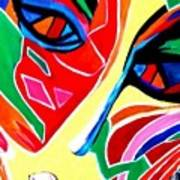 Abstract Painting - Woman Of Colors Poster