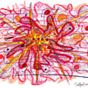 Abstract Pen Drawing Fifteen Poster