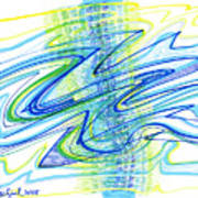 Abstract Pen Drawing Forty Poster
