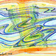 Abstract Pen Drawing Forty-one Poster