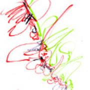 Abstract Pen Drawing Seventy Poster
