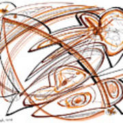 Abstract Pen Drawing Ten Poster