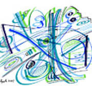 Abstract Pen Drawing Thirty-three Poster