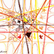 Abstract Pen Drawing Three Poster
